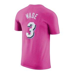 2020 Wärme Basketball T-Shirt mit 3 # 22 # butller 14 Namen # herro waten und Anzahl Gewohnheit 100% Baumwolle T-Shirt
