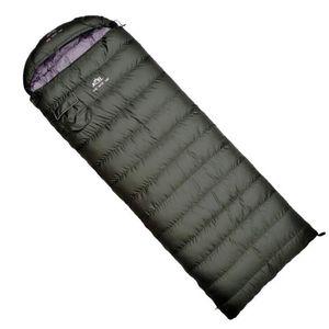 Ultralight Schlafsack Komfortable Daunenschlafsack Camping Multifunktionsreise Weiß Duck Down Faule S429