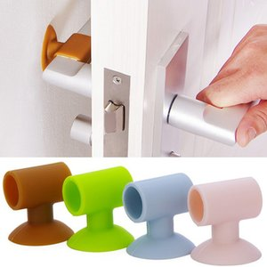 3PCS 크리 에이 티브 문 손잡이 보호 커버 벽 충돌 쿠션 도어 잠금 보호 패드 보호 벽 스틱 홈 아기 안전