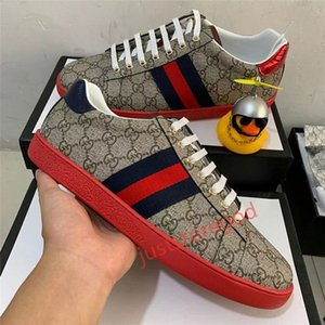 Gucci Hococal Stripes Chaussures de sport marche Formateurs Tiger Chaussures Homme Femmes Chaussures Sneaker Casual Luxury Serpent Designer Baskets basses en cuir