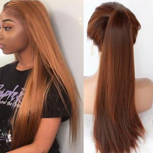 360 Tam Dantel Peruk Sentetik Saç Isıya Dayanıklı Sentetik Dantel Açık Peruk Tam Dantel Peruk Benzet İnsan Saç İçin Afrikalı Amerikan Kadın