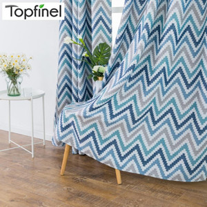 Topfinel Mosaic Printed Wave Thermal Insulated Blackout Window Panels Curtains For Living Room Bedroom Kitchen Children Room