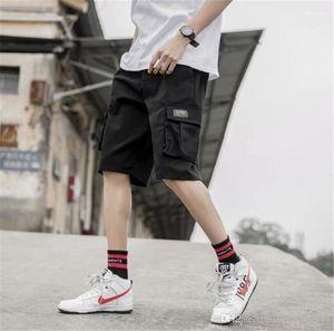 Pantalones cortos Ropa de Trabajo Adolescente suelta Mediados Ropa Micro Bomba Trajes de forma relajada Ropa del diseñador para hombre del verano