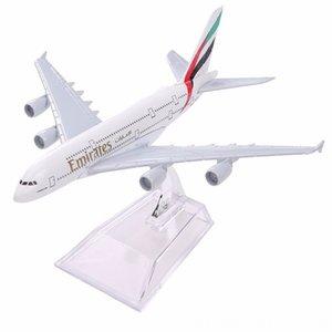 에어 전기 / RC 자동차 전기 원격 항공기 스탠드 w 에미레이트 항공 A380 항공 비행기 에어 버스 380 개 항공 16cm 합금 금속 비행기 모델을 제어