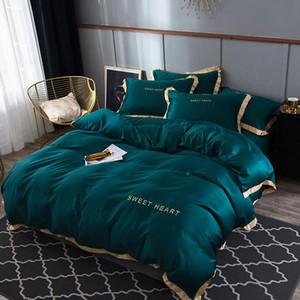 45 Literie 4Flat drap de lit Brief Housse de couette Sets roi couette confortable Couvre Draps de lit Linge