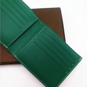 Paris Luxury Style Designer Mens Famous Men piccolo portafoglio in tela rivestita con più vera pelle corto Bifold Portafogli borsa con la scatola