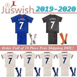 Tailandia PULISIC KANTE ABRAHAM LAMPARD Jersey ODOI WILLAN Fútbol 2019 camisa 2020 MONTAJE Camiseta de fútbol 19 20 Kits para niños Calcetines Mayorista