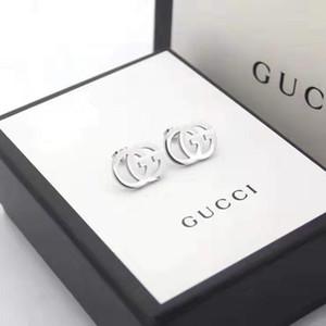 Takı tasarımcıları küpe orijinal kutusu Pandora 925 gümüş kadın moda küpe markaları