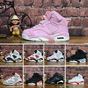 Nike Air Jordan 6 ragazze del bambino del bambino Scarpe di marca per bambini J6 bambini ragazzo e Calzature Gril Sport scarpa da tennis atletica leggera di basket in esecuzione