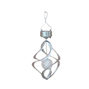 BESTOYARD Solar Wind Chime LED Color Changing Hanging Light Decorative Solar Powered LED Wind Spinner Light for Garden