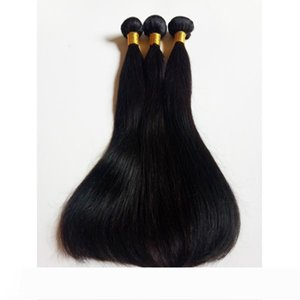 A Wholesale 8-26inch Unprocessed Brazilian virgin Human Hair weft Cheap factory price Top quality Indian remy natural straight weaving
