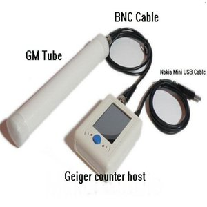 Freeshipping Particle Geiger Counter Digital Nuclear Radiation Detector Radioactive Particles Detector + USB + BNC Cable + GM Tube