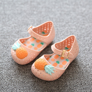 Fashion Princess Shoes Jelly Shoes Summer Girls Sandals Children's Hot Sale Plain Rain Boot Baby Children Toddler Sandals