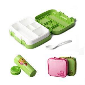 Almoço TUUTH dos desenhos animados Microwave Leakproof BPA livre para Kid Crianças Student portátil Bento Box Set com Y200429 Bottle