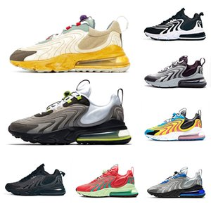 Nike air max 270 Travis Scott Cactus Jack Stock X Neon Cactus Trails 270 React ENG Mens Running shoes Travis Scott 270s Silver Blue Burgundy Ash Men women sports designer sneakers