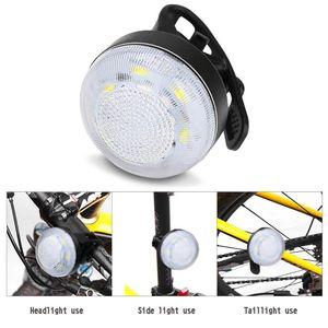 USB ricaricabile COB bicicletta della luce anteriore di riciclaggio del faro WaterproofBike luce anteriore in bicicletta lampada impermeabile USB Rechar # LR3