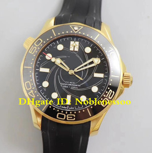 New Model Swiss CAL.8807 Movement Men's Limited Edition Gold James Bond 007 Rubber Bands 210.62.42.20.01.001 VS Factory Automatic Watch