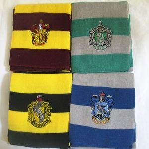 Desgaste de Harry Potter de la bufanda de Gryffindor / Slytherin / Hufflepuff / Ravenclaw de punto Neckscarf Disponible de Navidad regalo de cumpleaños de Halloween cosplay 4 Color