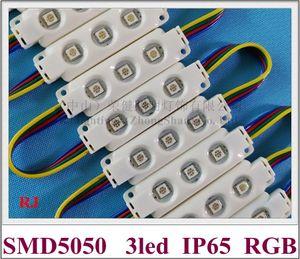 injeção de alta qualidade epóxi à prova d 'água módulo LED RGB SMD 5050 LED back light módulo backlight RGB DC12V 0.72 W 3 levou ABS CE