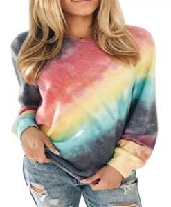 8 Colors Women Hoodies Sweatshirts Gradient Tie-dye Long Sleeve Loose Sweater Casual Pullover Sweater Women Clothes S-XXL