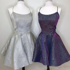 2019 Sparkly Fairy Homecoming Dresses Short A Line Spaghetti Straps Mini Cocktail Party Abiti realizzati su misura plus size