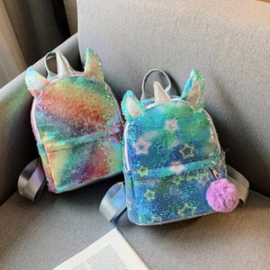 New Fashion Backpacks Skillful Manufacture Children Kids Backpack Sequins Knapsack Baby Girls Boys Women Pompom Schoolbag