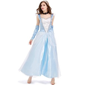 Festa di Halloween Costume Party Costume adulto Princess Dress Cosplay Fairy Princess Sky Sexy Dress Tulle Dress
