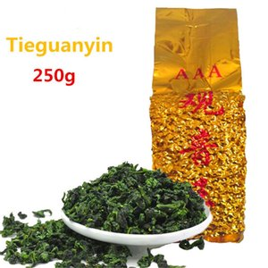 250g Chinese Bio Grüner Tee Vakuumpackungen Fragrant Anxi TieGuanYin Oolong Tee Health Care neue Frühlings-Tee Green Food Promotion