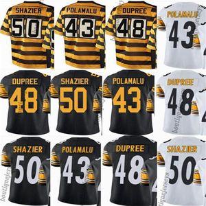 PittsburghSteelershommes / femmes / jeunes # 43 Troy Polamalu 48 Bud Dupree 50 Ryan Shazier vapeur maillots Untouchable
