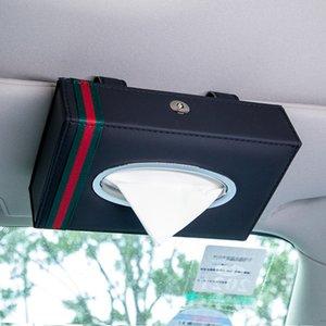 20 * 5,5 * 12,5 cm Porte-serviette tissu Boîte de siège de voiture Sun Visor Type de type suspendu Bonne qualité luxe Auto Accessoires