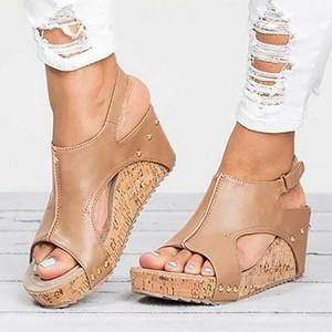 Sıcak Satış-Adisputent Kadınlar Topuklar Sandalias Mujer Yaz Ayakkabı Tıkanıklık Bayan Espadrilles Kadınlar Sandalet için Platform Sandalet takozları Ayakkabı