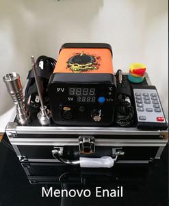 Menovo Electric Titainium Dab Nails Pen Rig Oil Wax Dabbing PID TC Box Con Bobina Domeless Kit di lumache più pesanti Pad in silicone 0268110