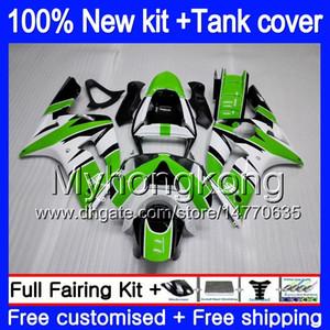 Кузов +бак для KAWASAKI 600CC ZX600 ZX636 ZX-6R 2003 2004 211MY.15 на ZX 636 запросу ZX6R 03 04 ZX в 6 Р-636 на ZX-600 ZX в 6р 03 04 обтекателя зеленый глянец