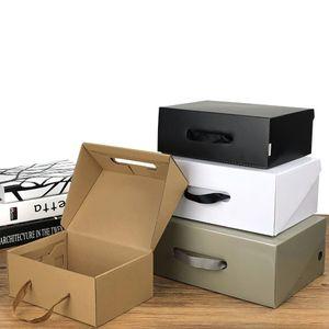 Gift Box personalizado embalagem portátil Shoe Papelão Rope Embalagem Box Compras Fit For Vestuário Sapatos peruca de cabelo