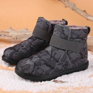 New Fashion Men Boots High Quality Waterproof Non-slip Women Ankle Snow Boots Shoes Warm Fur Plush Hook & Loop Man Winter Shoes CJ191205