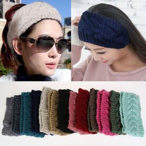 2017 Qualitäts-Art- und Frauen Crochet hohe Elastizität-Stirnband Knit Blume Hairband Ohr-Wärmer Winter-Headwrap