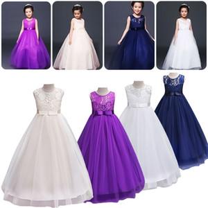 PUDCOCO Sweet Lace Chiffon de casamento da dama de honra Pageant Partido da criança Meninas Formal Vestido Vestido bowknot flor Vestido de Verão 3-14Y