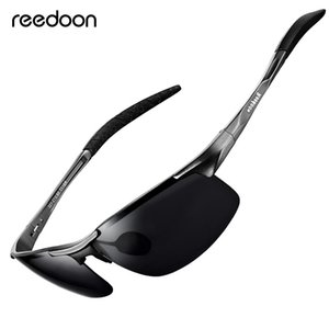 Óculos De Sol Polarizados Reedoon Lentes HD Lens Metal Frame Sport Sun Óculos Marca Designer para homens mulheres que conduzem Pesca Ao Ar Livre R8177 Y200415