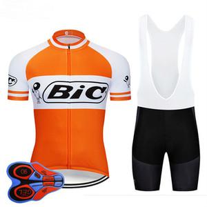 2019 Retro BIC arancione Cycling Jersey maglie ciclismo traspiranti manica corta estate asciugatura rapida panno MTB Ropa ciclismo B16