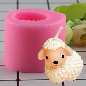 Mujiang 3D Craft Sheep Soap Silicone Molds Baby Birthday Cake Candle Mold Fondant Cake Decorating Tools Chocolate Candy Moulds