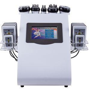 6 en 1 ultrasonidos lipolaser cavitación RF vacío máquina de adelgazamiento cuerpo escultura piel apriete salón belleza máquina