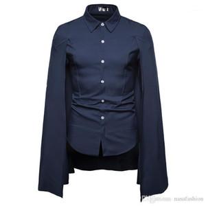 Shirt collare 2020 stand Primavera Autunno Uomini Stilisti Uomini Format semplice camicia a maniche lunghe Affari