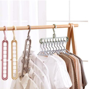 شماعات الملابس منظم متعدد الميناء معطف دعم الطفل شماعات التجفيف الرفوف البلاستيكية وشاح cabide تخزين الرف شماعات للملابس