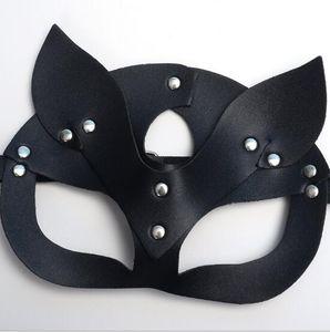 Женщины Сексуальная маска Половина глаз косплей лица Cat Кожаная маска Halloween Party Cosplay маска маскарад Н.Ф. Необычные маски 21 * 15 см