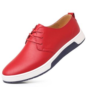 Spring Genuine Leather Men Shoes Classic Men Dress Shoes Non-slip Oxford Formal Wedding Loafers Plus Size 38-45