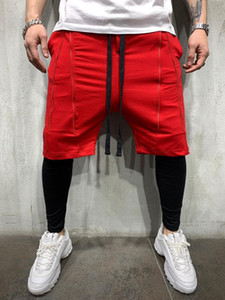 Sports Mens Shorts Casual Active Style Solid Color Elastic Waist Shorts Mens Outdoor Exercise & Fitness Clothing