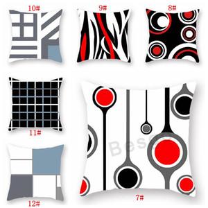 18x18inch padrão geométrico fronha Início Cadeira Sofá Lance capa de almofada macia pele de pêssego Pillowcase Decoração 18 estilos DBC BH2847