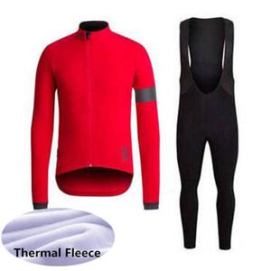 RAPHA équipe salopettes jersey en polaire cyclage thermique d'hiver ensembles 2019 nouveaux hommes Kits route Vêtements Vélo VTT de U41912 livraison gratuite