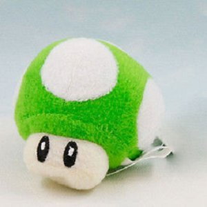 2,5 Zoll grüner Pilz Plüsch Mini Keychain süße Puppe