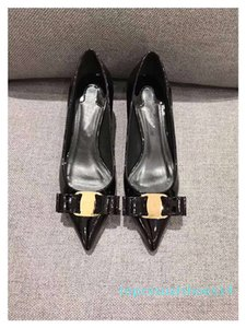 2019 luxury designer women shoes red bottom high heels Nude black red glitter Leather Pointed Toes Pumps Dress shoes t14